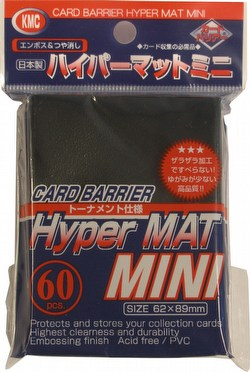 KMC Card Barrier Hyper Mat Mini Yu-Gi-Oh Size Sleeves - Hyper Matte Black Case [30 packs]