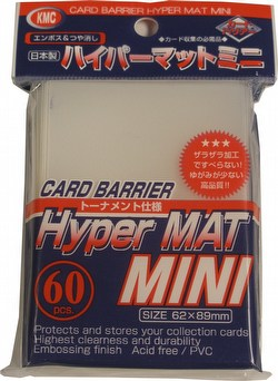 KMC Card Barrier Hyper Mat Mini Yu-Gi-Oh Size Sleeves - Hyper Matte Clear Case [30 packs]