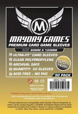 Mayday Dixit Magnum Ultra-Fit Premium Board Game Sleeves [10 Packs/80mm x 120mm]