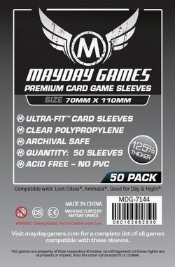 Mayday Lost Cities Magnum Ultra-Fit Premium Board Game Sleeves Case [100 Packs/70mm x 110mm]