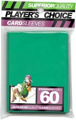Player's Choice Standard Size Sleeves Pack - Green