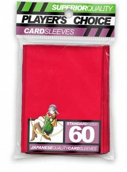 Player's Choice Standard Size Sleeves - Red [10 packs]
