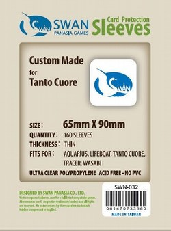 Swan Panasia Tanto Cuore Board Game Sleeves [10 Packs/65mm x 90mm]