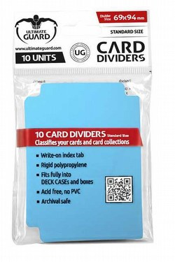 Ultimate Guard Light Blue Card Dividers [10 Packs]