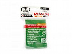 Ultimate Guard Supreme Standard Size Matte Green Sleeves Box [10 packs]