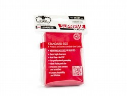 Ultimate Guard Supreme Standard Size Red Sleeves Box [10 packs]