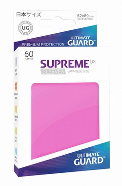 Ultimate Guard Supreme UX Japanese/Yu-Gi-Oh Size Pink Sleeves Box [10 packs]