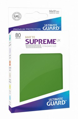 Ultimate Guard Supreme UX Standard Size Matte Green Sleeves Box [10 packs]