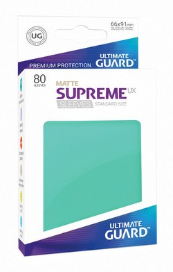 Ultimate Guard Supreme UX Standard Size Matte Turquoise Sleeves Box [10 packs]