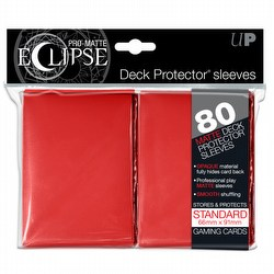 Ultra Pro Pro-Matte Eclipse Standard Size Deck Protectors Box - Red