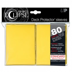 Ultra Pro Pro-Matte Eclipse Standard Size Deck Protectors Box - Yellow [80 sleeves/pack]