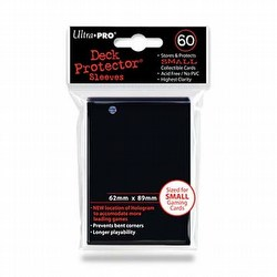 Ultra Pro Size Deck Protectors Box - Black [10 packs/62mm x 89mm] (New Hologram Location)
