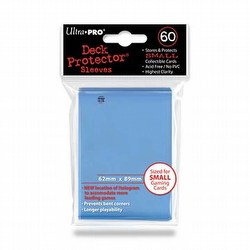 Ultra Pro Size Deck Protectors Box - Light Blue[10 packs/62mm x 89mm] (New Hologram Location)
