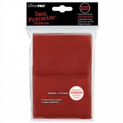 Ultra Pro Standard Size Deck Protectors - Red [6 packs]