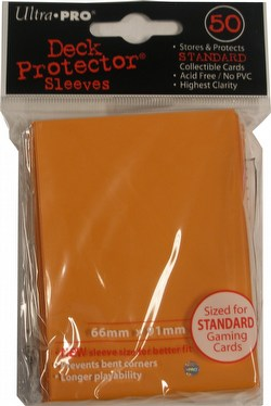 Ultra Pro Standard Size Deck Protectors Box - Orange [12 packs/66mm x 91mm]