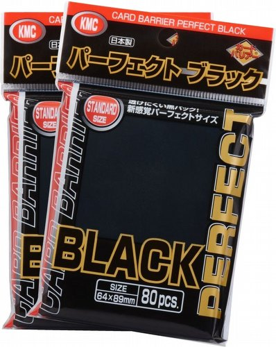KMC Standard Size Sleeves - Perfect Size Black Case [30 packs]