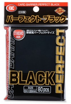 KMC Standard Size Sleeves - Perfect Size Black Pack