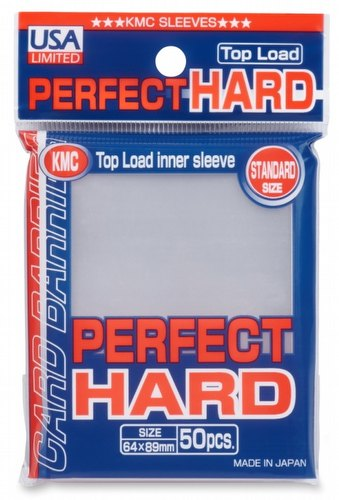 KMC Standard Size Sleeves - Perfect Hard Pack