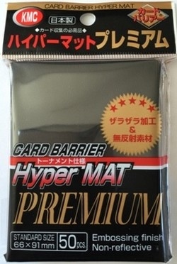 KMC Card Barrier Mat Series Standard Size Sleeves - Premium Hyper Matte Black Pack