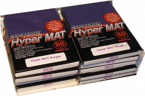 KMC Card Barrier Mat Series Standard Size Sleeves - Hyper Matte Purple [10 packs]