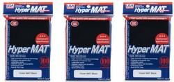 KMC Hyper Matte USA 100 ct. Standard Size Sleeves - Black [3 packs]