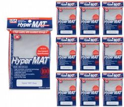 KMC Hyper Matte USA 100 ct. Standard Size Sleeves - Clear [10 packs]