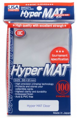 KMC Hyper Matte USA 100 ct. Standard Size Sleeves - Clear Case [24 packs]