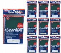 KMC Hyper Matte USA 100 ct. Standard Size Sleeves - Green [10 packs]