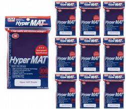 KMC Hyper Matte USA 100 ct. Standard Size Sleeves - Purple [10 packs]