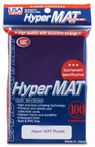 KMC Hyper Matte USA 100 ct. Standard Size Sleeves - Purple Pack