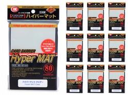 KMC Card Barrier Mat Series Standard Size Sleeves - New Hyper Matte Clear [10 packs]