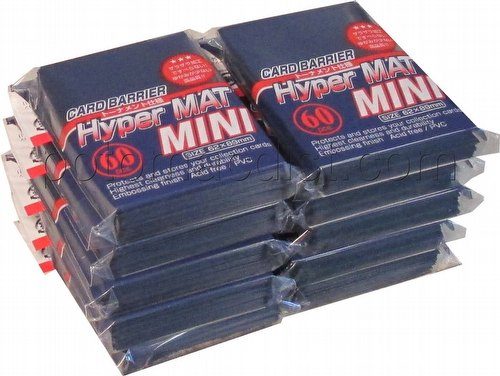 KMC Card Barrier Hyper Mat Mini Yu-Gi-Oh Size Sleeves - Hyper Matte Blue [10 packs]