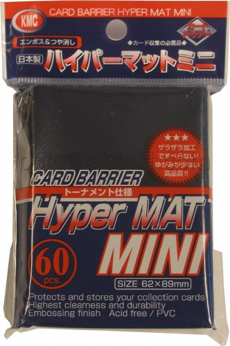 KMC Card Barrier Hyper Mat Mini Yu-Gi-Oh Size Sleeves - Hyper Matte Blue
