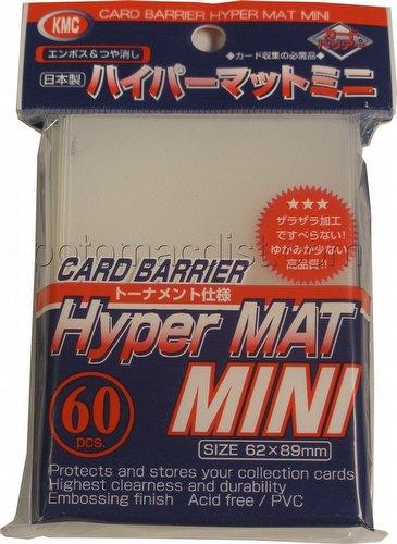 KMC Card Barrier Hyper Mat Mini Yu-Gi-Oh Size Sleeves Pack - Hyper Matte Clear