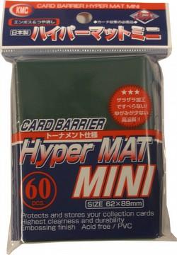 KMC Card Barrier Hyper Mat Mini Yu-Gi-Oh Size Sleeves - Hyper Matte Green