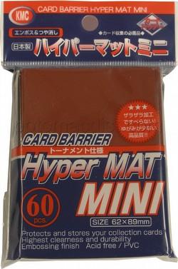KMC Card Barrier Hyper Mat Mini Yu-Gi-Oh Size Deck Protectors - Hyper Matte Red