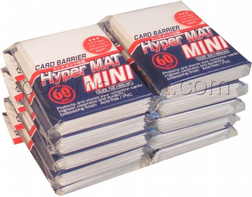 KMC Card Barrier Hyper Mat Mini Yu-Gi-Oh Size Deck Protectors - Hyper Matte White [10 packs]