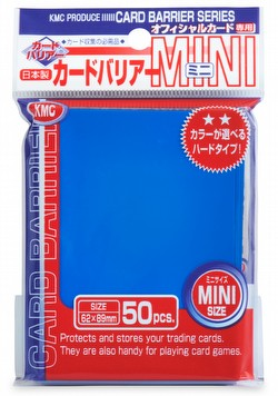 KMC Card Barrier Mini Series Yu-Gi-Oh Size Sleeves - Metallic BluePack
