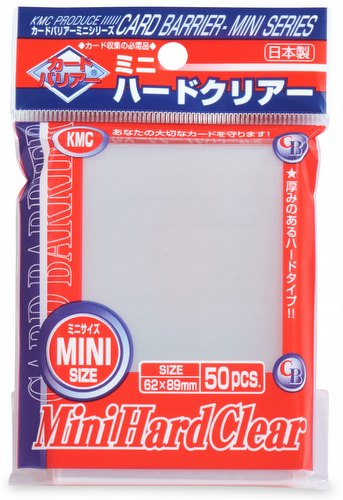 KMC Card Barrier Mini Series Yu-Gi-Oh Size Sleeves Pack - Mini Hard Clear