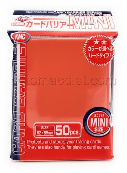 KMC Card Barrier Mini Series Yu-Gi-Oh Size Sleeves Pack - Orange