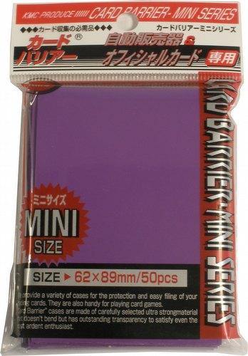 KMC Card Barrier Mini Series Yu-Gi-Oh Size Sleeves Pack - Purple