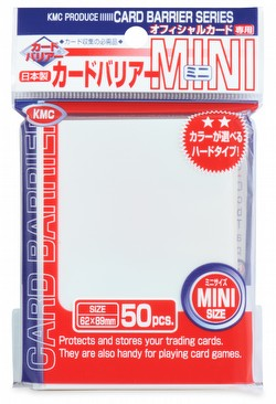 KMC Card Barrier Mini Series Yu-Gi-Oh Size Sleeves - White Pack