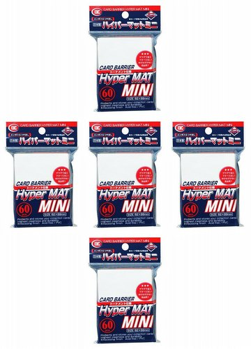KMC Card Barrier Hyper Mat Mini Yu-Gi-Oh Size Sleeves - Hyper Matte White [5 Packs]