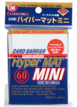 KMC Card Barrier Hyper Mat Mini Yu-Gi-Oh Size Sleeves - Hyper Matte White Pack