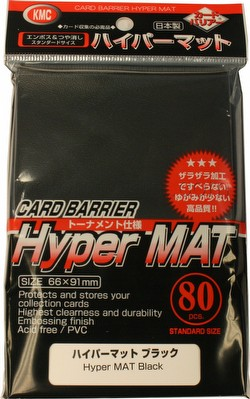 KMC Card Barrier Mat Series Standard Size Sleeves Pack - Hyper Matte Black