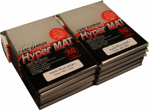 KMC Card Barrier Mat Series Standard Size Sleeves - Hyper Matte Clear [10 packs]
