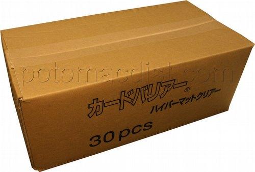 KMC Card Barrier Mat Series Standard Size Sleeves - Hyper Matte Clear Case [30 packs]