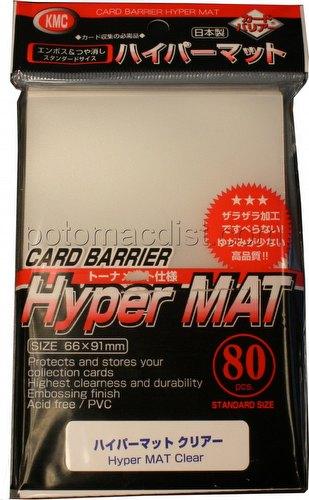 KMC Card Barrier Mat Series Standard Size Sleeves Pack - Hyper Matte Clear