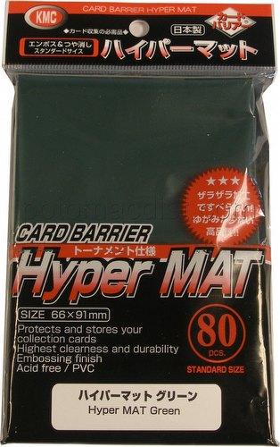 KMC Card Barrier Mat Series Standard Size Deck Protectors Pack - Hyper Matte Green