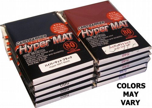 KMC Card Barrier Mat Series Standard Size Sleeves - Hyper Matte Custom Mix [10 packs]